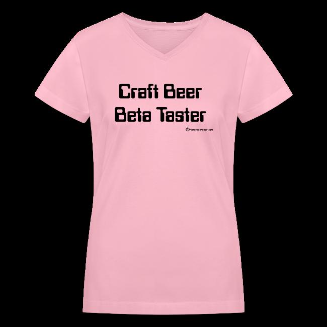 Craft Beer Beta Taster Women's V-Neck T-Shirt
