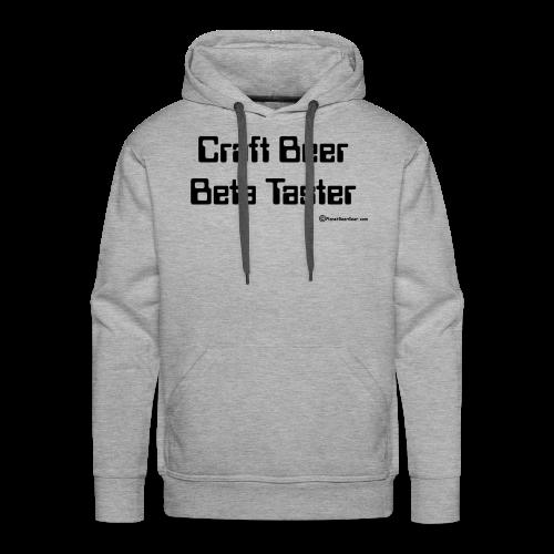 Craft Beer Beta Taster Men's Hoodie - Men's Premium Hoodie
