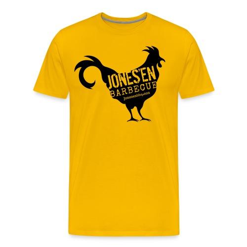 Branded Chicken -Black & Gold Edition - Men's Premium T-Shirt