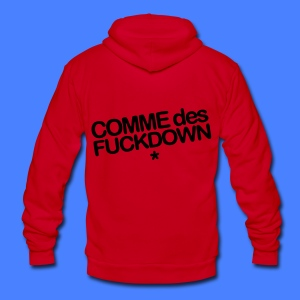 Comme Des Fuckdown Zip Hoodies/Jackets - Unisex Fleece Zip Hoodie by American Apparel