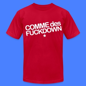 Comme Des Fuckdown T-Shirts - Men's T-Shirt by American Apparel