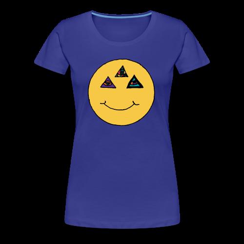 Illuminati Smile women's Premium t-shirt - Women's Premium T-Shirt