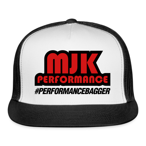 MJK Trucker Hat Black/Red - Trucker Cap