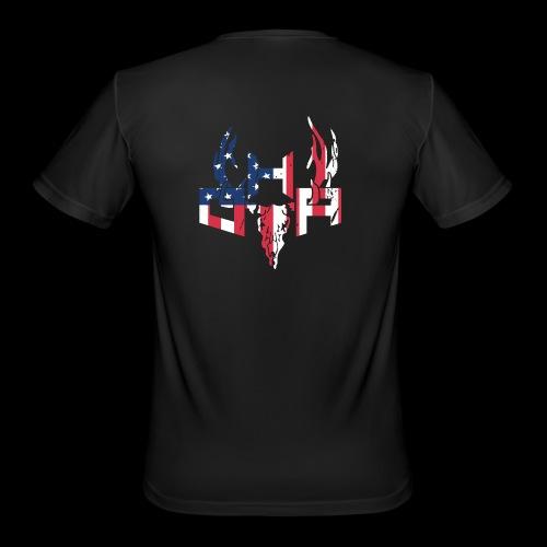 Flag (Back) - Men's Moisture Wicking Performance T-Shirt