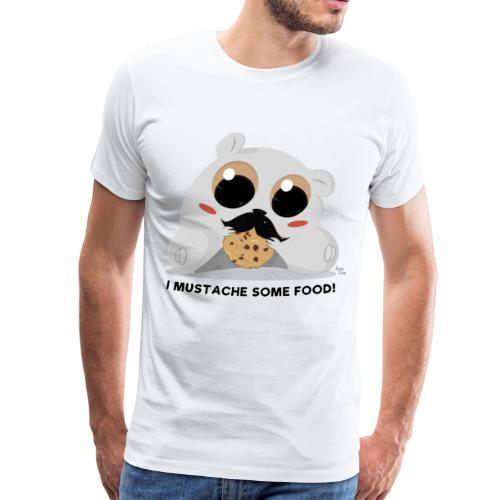 I Mustache Some Food! T-Shirt - Men's Premium T-Shirt
