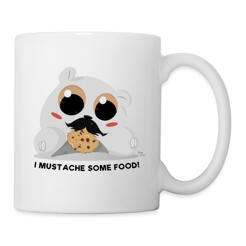 I Mustache Some Food! Mug - Coffee/Tea Mug