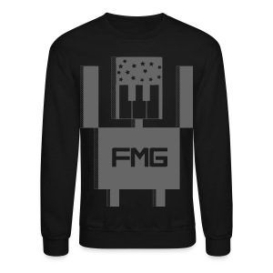 FMG Sweater | Gray on Black - Crewneck Sweatshirt