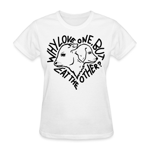 Why Love One? Shirt (Womens-White) - Women's T-Shirt
