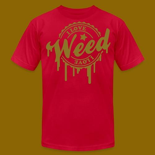 I LOVE WEED TEE 4 - Men's Fine Jersey T-Shirt