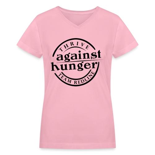 Against Hunger Womens T - Women's V-Neck T-Shirt