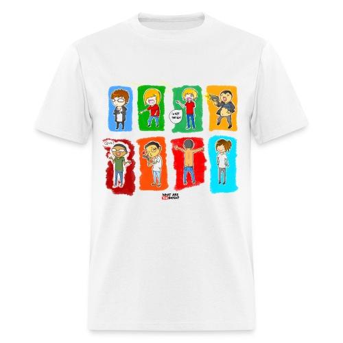 WAYB? White T-Shirt  - Men's T-Shirt