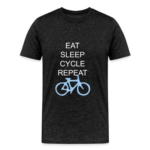 Eat Sleep Cycle Repeat - Men's Premium T-Shirt