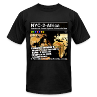 T-Shirts ~ Men's T-Shirt by American Apparel ~ NYC-2-Africa subway line