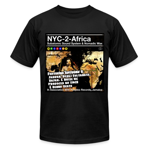 NYC-2-Africa subway line - Men's T-Shirt by American Apparel