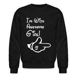 I'm With Awesome Girl! - Crewneck Sweatshirt