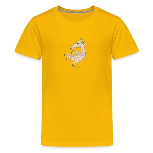 Free falling Giraffe - Kids' Premium T-Shirt