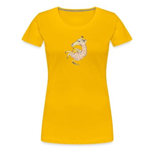 Free falling Giraffe - Women's Premium T-Shirt