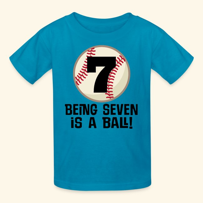 7th Birthday Baseball T Shirt