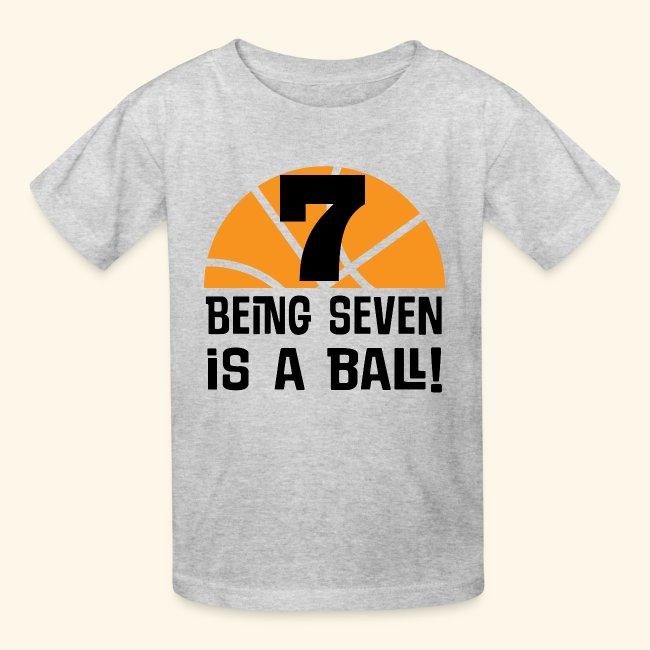7th Birthday Basketball T Shirt