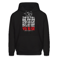 Hoodies ~ Men's Hoodie ~ There will be pain | CutAndJacked | Mens hoodie