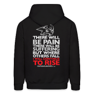 Hoodies ~ Men's Hoodie ~ There will be pain | CutAndJacked | Mens hoodie (back print)