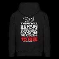 Hoodies ~ Men's Hoodie ~ There will be pain | CutAndJacked | Mens hoodie (back print)
