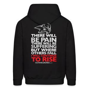 There will be pain | CutAndJacked | Mens hoodie (back print) - Men's Hoodie