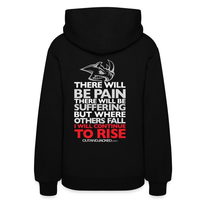 There will be pain | CutAndJacked |Womens hoodie (back print) - Women's Hoodie