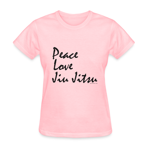 Peace Love Jiu Jitsu Women's T-shirt - bw - Women's T-Shirt