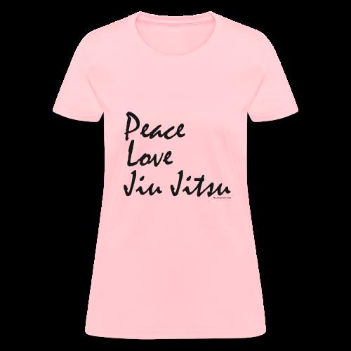 Peace Love Jiu Jitsu Women's T-shirt - bw - Women's T-Shirt