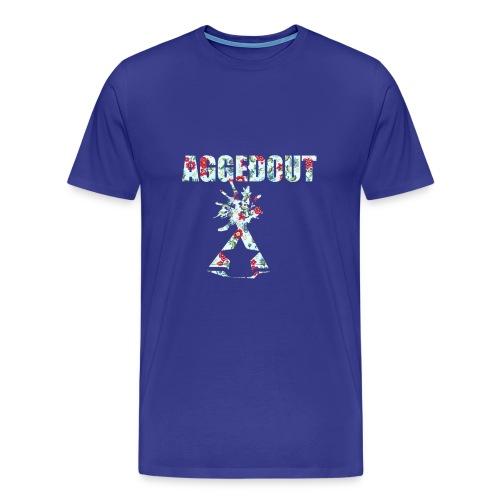 Aggedout_Premium_Floral - Men's Premium T-Shirt