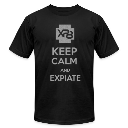 Keep Calm & XP8 - Men's T-Shirt by American Apparel