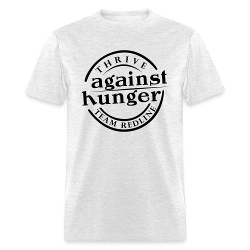 Against Hunger Mens T Black Letters - Men's T-Shirt