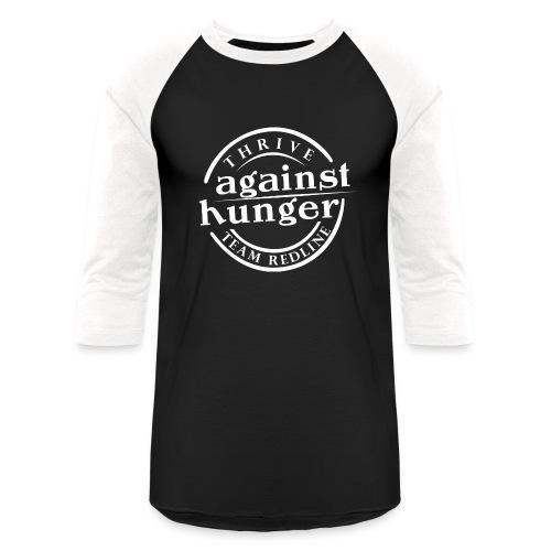 Against Hunger Baseball T with White Letters - Baseball T-Shirt
