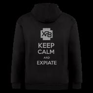 Zip Hoodies & Jackets ~ Men's Zip Hoodie ~ Keep Calm & Xp8