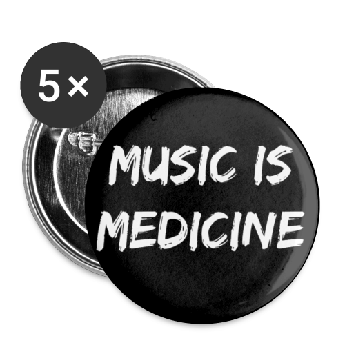 Corrupt Nation LIMITED EDITION Music Is Medicine 1 inch Pins (5 Pack) - Small Buttons
