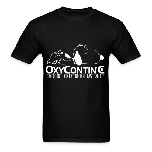 Snoopy on Oxycotin  - Men's T-Shirt