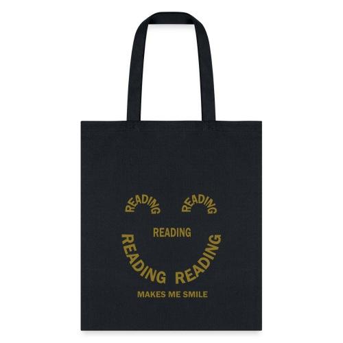 Reading Smile  - Tote Bag