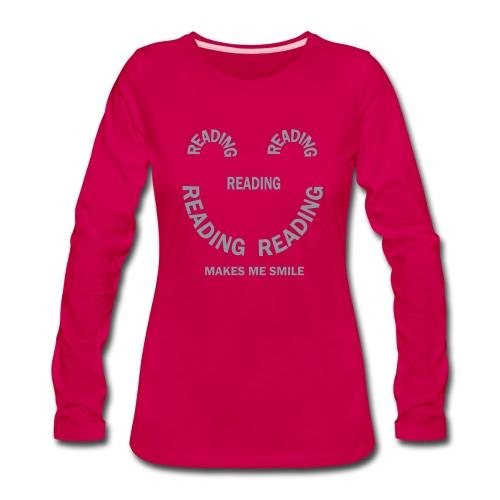 Reading Smile - Women's Premium Long Sleeve T-Shirt