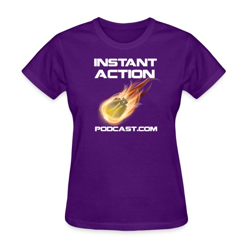 Official Instant Action Podcast Vanu Sovereignty Women's Purple T-Shirt - Women's T-Shirt