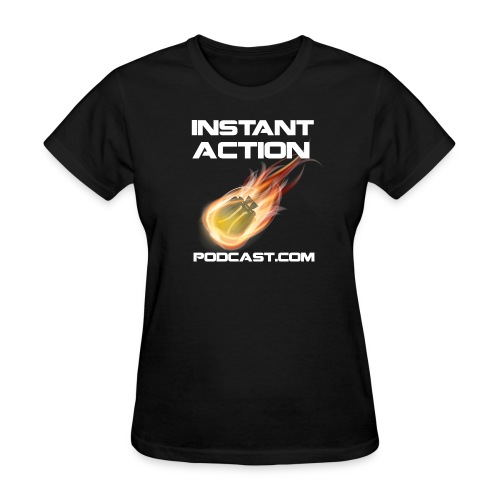 Official Instant Action Podcast All Faction Women's Black T-Shirt - Women's T-Shirt