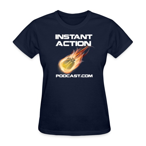 Official Instant Action Podcast New Conglomerate Women's Blue T-Shirt - Women's T-Shirt