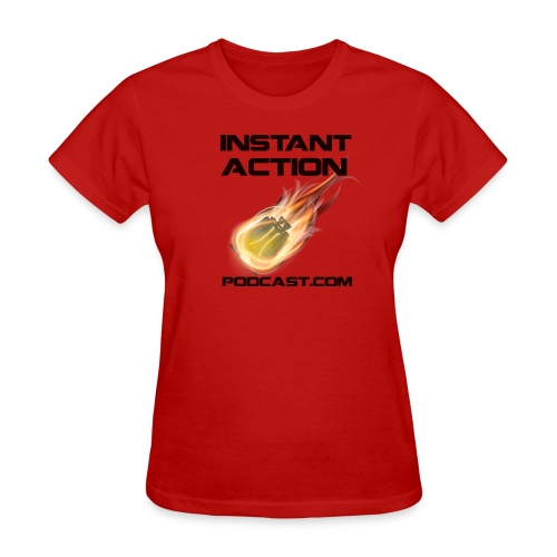 Official Instant Action Podcast Terran Republic Women's Red T-Shirt - Women's T-Shirt