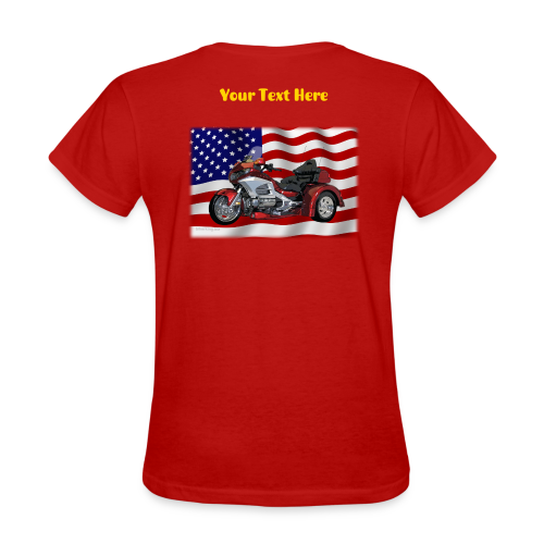 Ladie's T Bck Flag WingTrike Custom - Women's T-Shirt