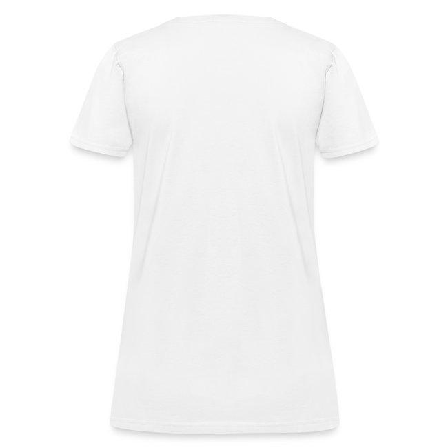 pink-cream drippy inverted cross t-shirt
