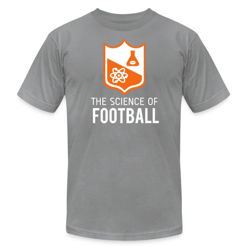 The Science of Football - Grey - Men's Fine Jersey T-Shirt