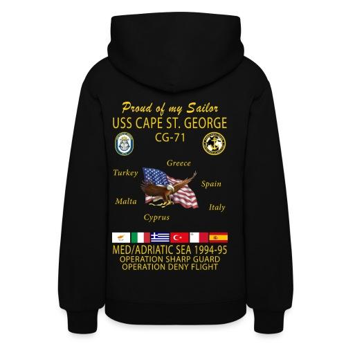 USS CAPE ST GEORGE 1994-95 WOMENS CRUISE HOODIE - FAMILY - Women's Hoodie