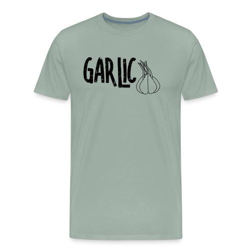 Garlic Garlic Text  - Men's Premium T-Shirt