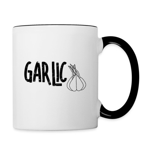 Garlic Garlic Text - Contrast Coffee Mug