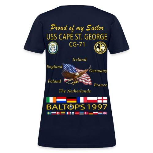 USS CAPE ST GEORGE 1997 WOMENS CRUISE SHIRT - FAMILY - Women's T-Shirt